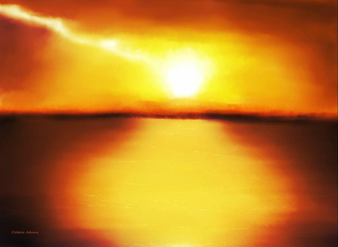 Drawn sunrise Adamsart Hatteras Sunrise Sunrise Cape