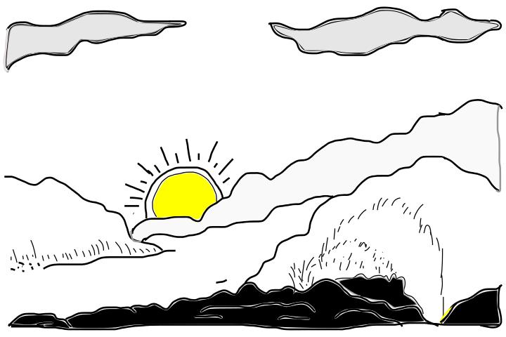 Drawn sunrise easy Kids Lists Drawing Drawings Sunrise