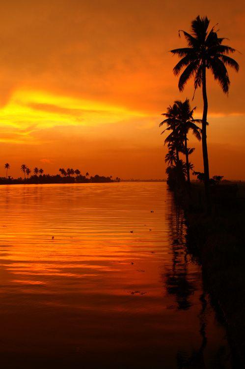 Drawn sunrise kerala scenery Sunset hudman1970 Pinterest country own