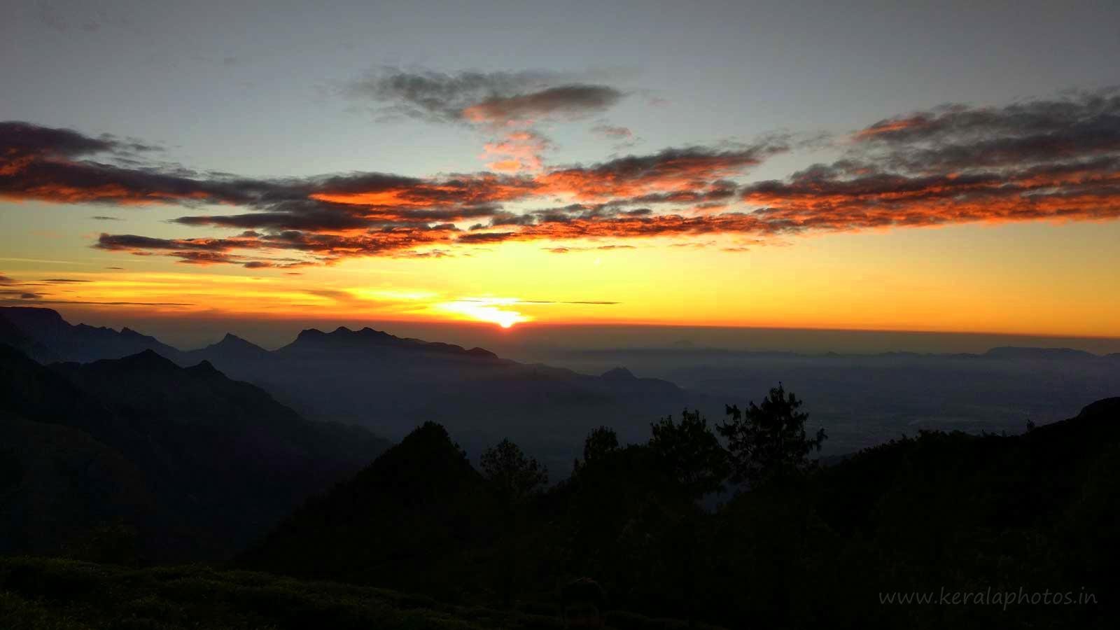 Drawn sunrise kerala scenery Which sunrise Meesapulimala  A