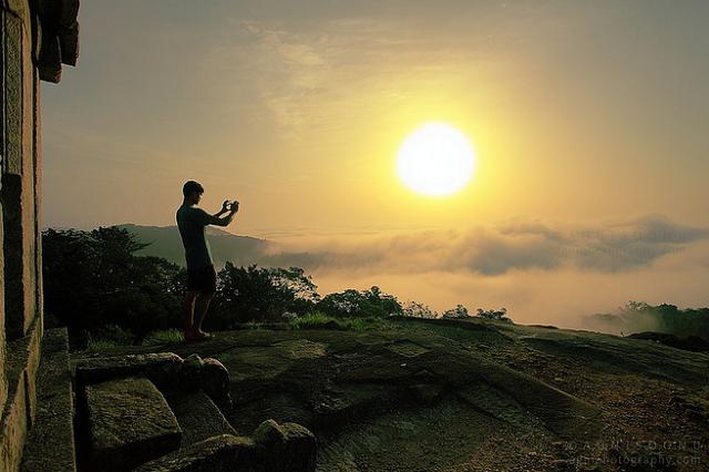 Drawn sunrise kerala scenery Misty from Points Sunrise Spectacular