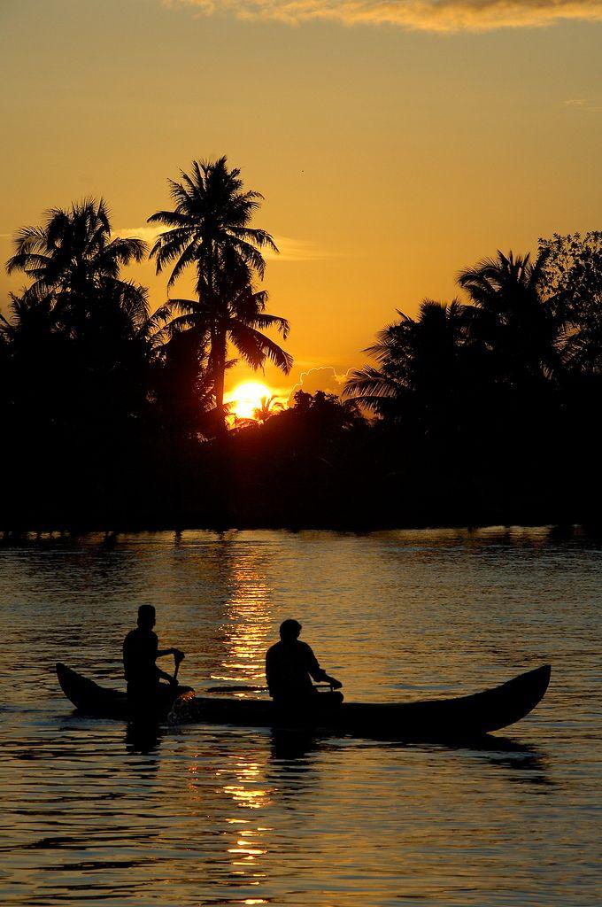 Drawn sunrise kerala scenery Backwaters Kerala Kerala Pinterest images