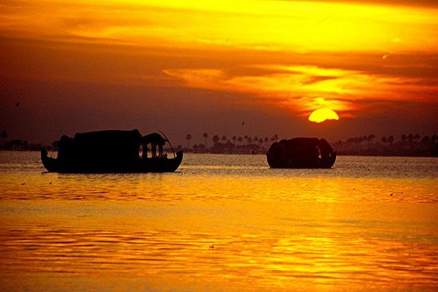 Drawn sunrise kerala scenery Beach Most  in Points
