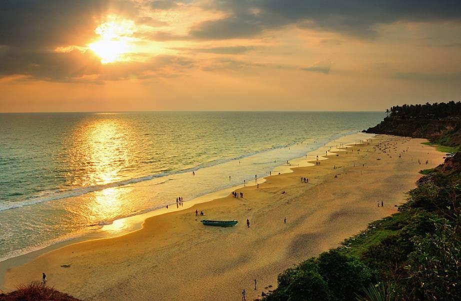 Drawn sunrise kerala scenery Beach best India in Varkala