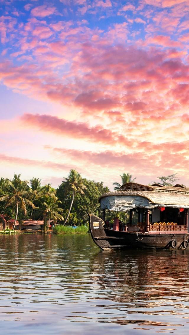 Drawn sunrise kerala scenery India Kerala Kerala and Beautiful