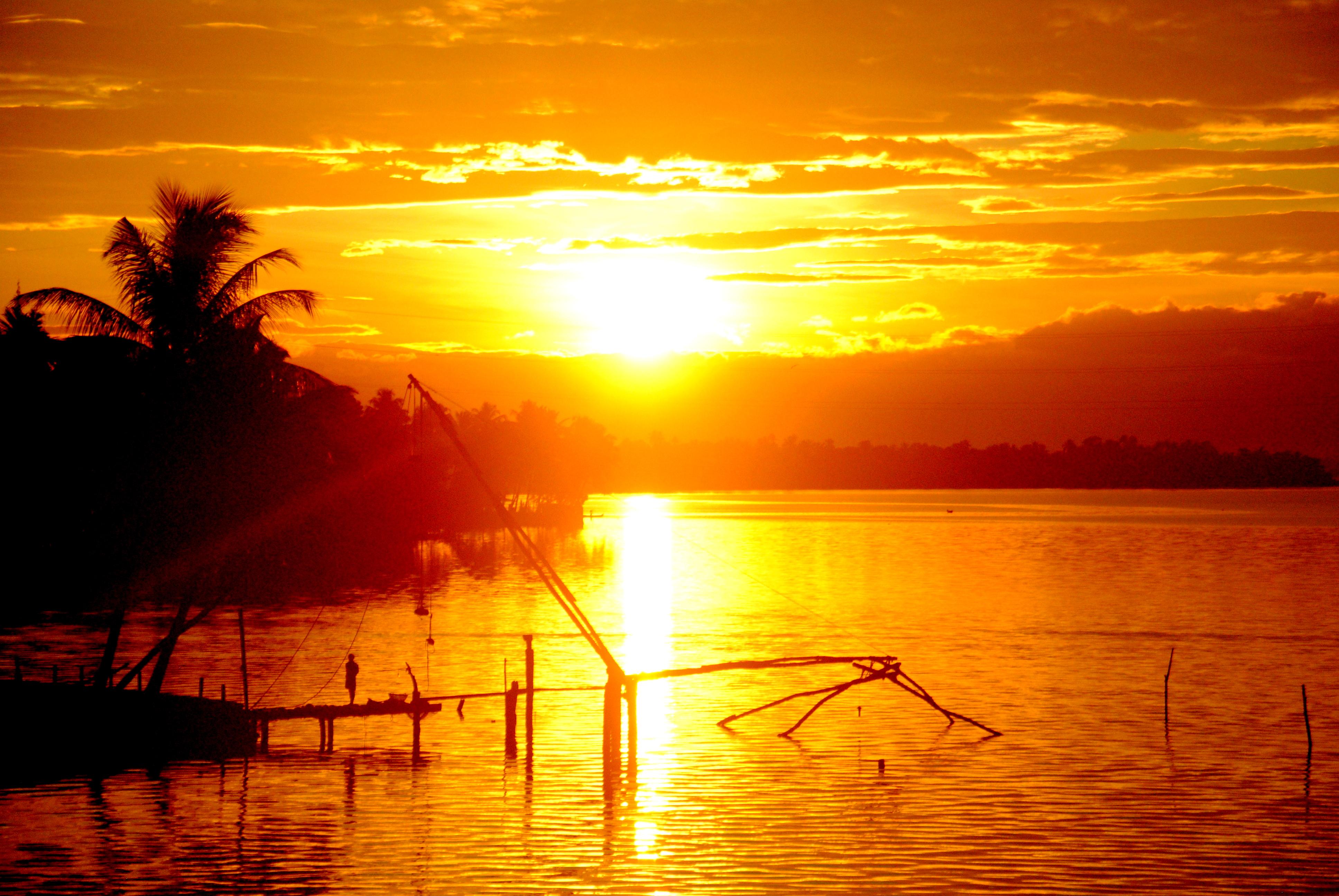 Drawn sunrise kerala scenery Mystical Sunsets Kerala Sunrise_Beauty_of_Nature Let's