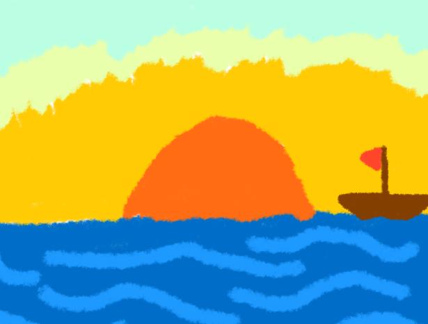 Drawn sunset Nukeintheradio Sunset on nukeintheradio Poorly