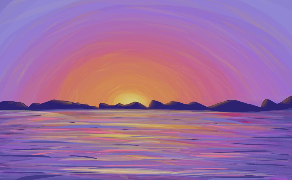 Drawn sunset Beach Sunset SketchPort Sunset Beach