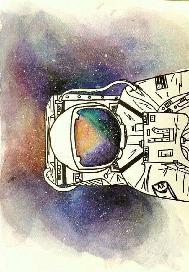 Galaxy clipart background drawing #6