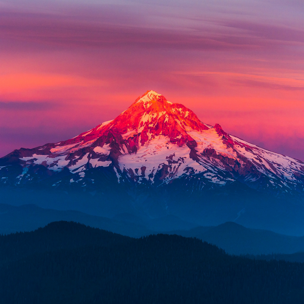 Drawn sunset mountain Wallpaper #iPad iPad  iPad