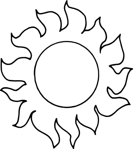 White clipart sunblack White Half Sun Black Clipartion