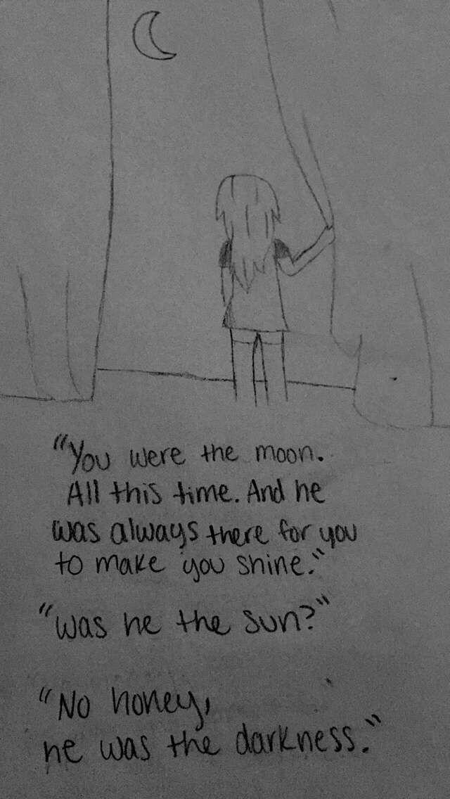Drawn quote sad 25+ Hagen by Sad moon