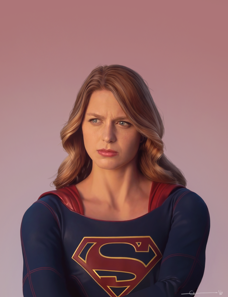 Drawn super girl Digital Kara A  Supergirl