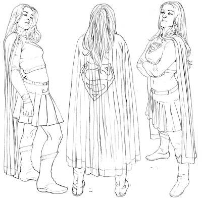 Drawn super girl Look as the Between I