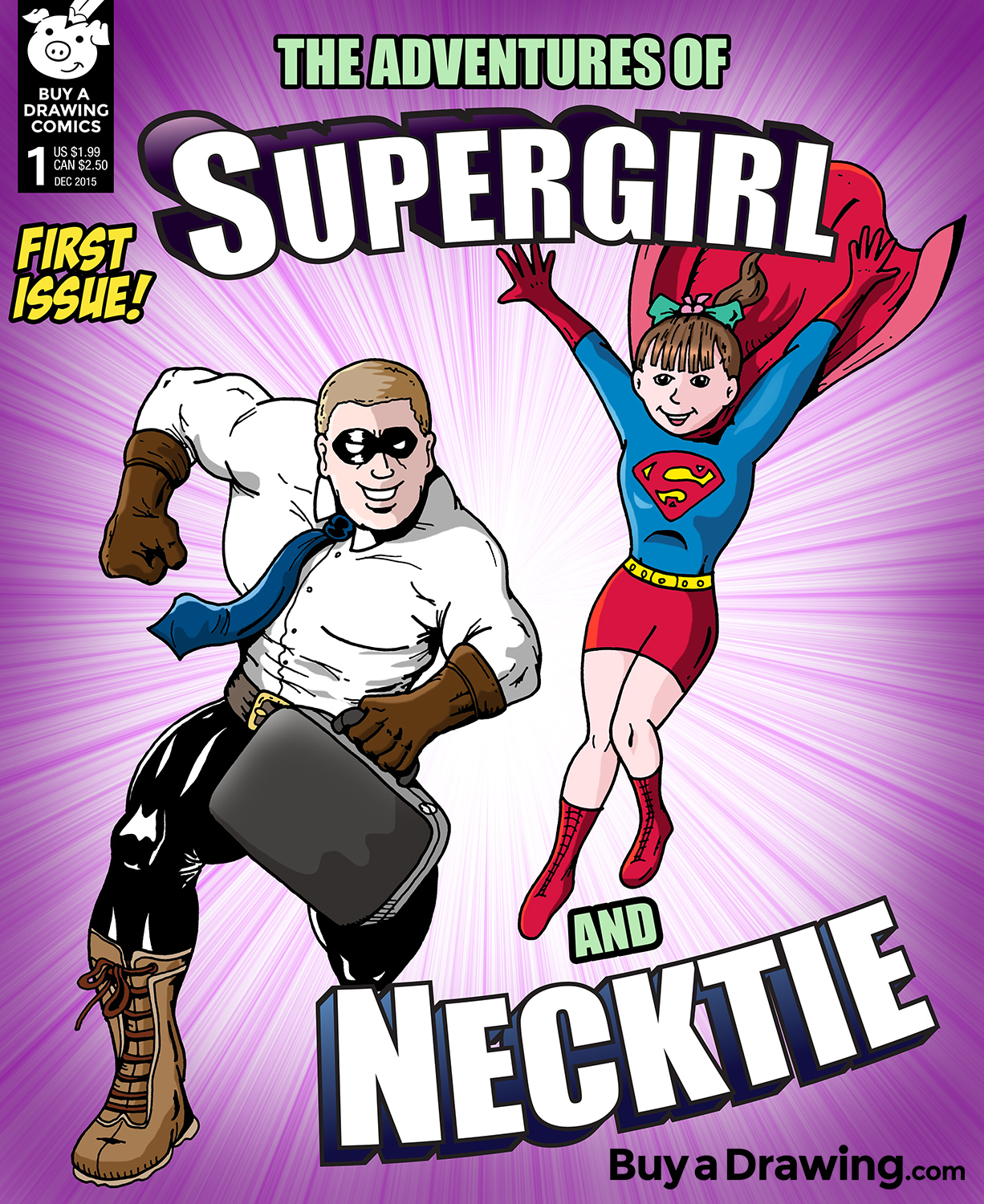 Drawn super girl And Drawing:  Necktie Custom
