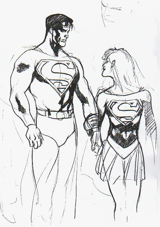 Drawn super girl Drawing Superman Pinterest & Supergirl Adam hughes