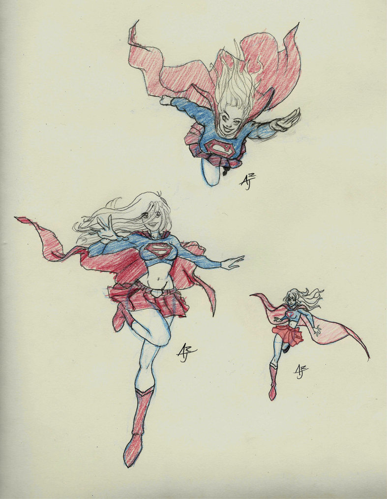 Drawn super girl Drawing Superman Superman by draw challenge draw