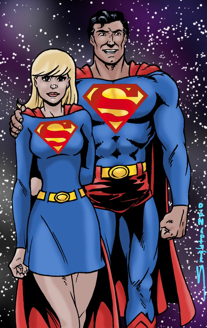 Drawn super girl Drawing Superman And on and Supergirl Supergirl