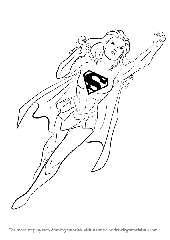Drawn super girl Drawing Wonder Woman Step How Draw : to