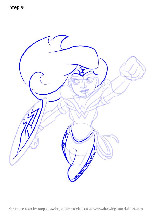 Drawn super girl Drawing Wonder Woman Wonder 10  DC Learn