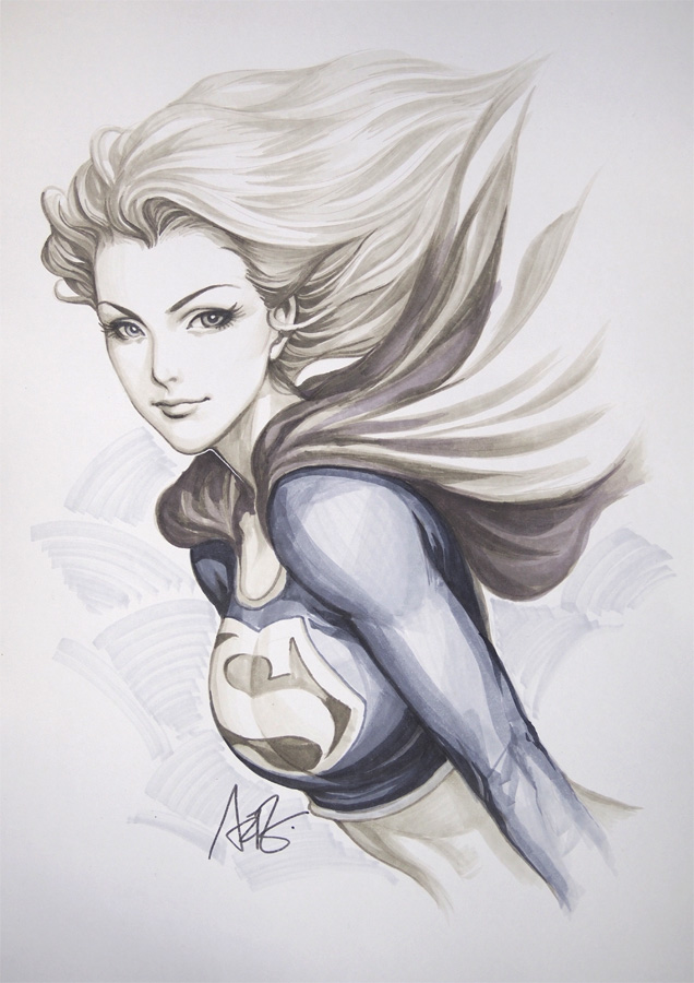 Drawn supergirl Supergirl Images Pencil Realistic Supergirl