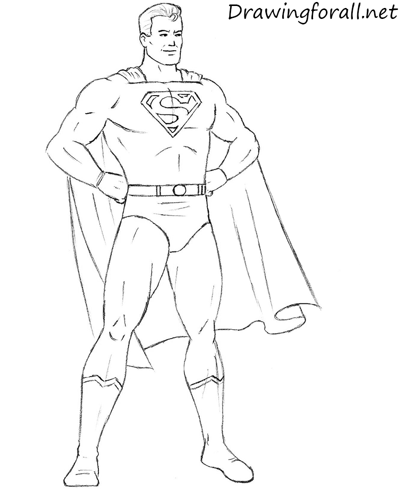 Drawn superman comic art Net draw superman classic Draw