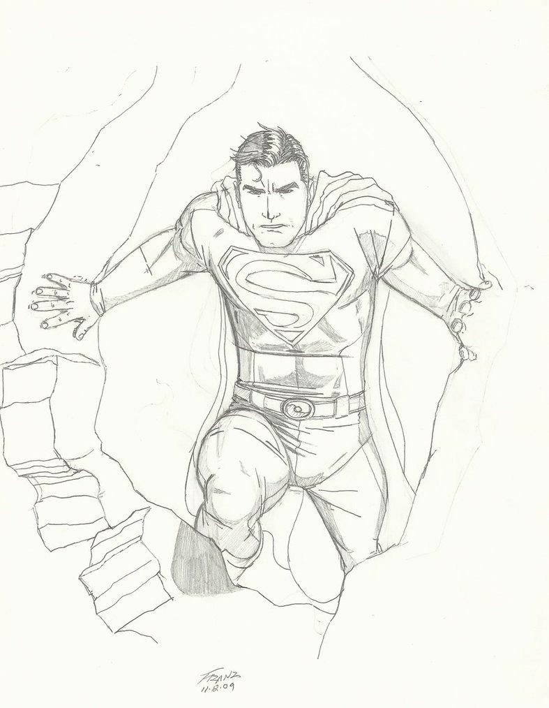 Drawn superman DeviantArt 12 09 by 11