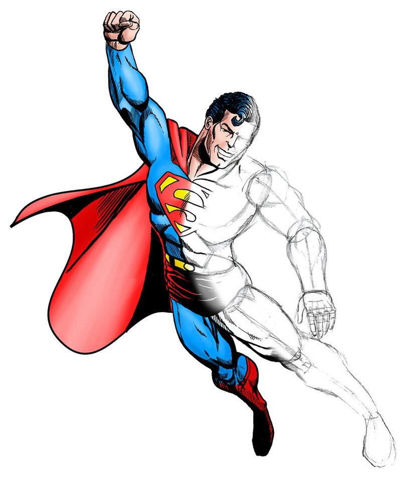 Drawn superman By DeviantArt Half magnus97 Drawn