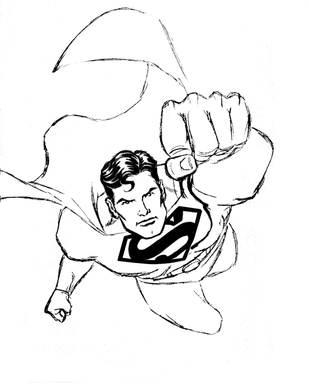 Drawn superman comic art Who help with who To