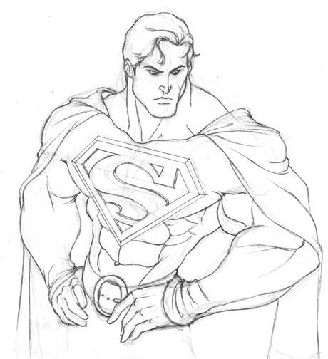 Drawn superman Sketches ideas superman Superman by
