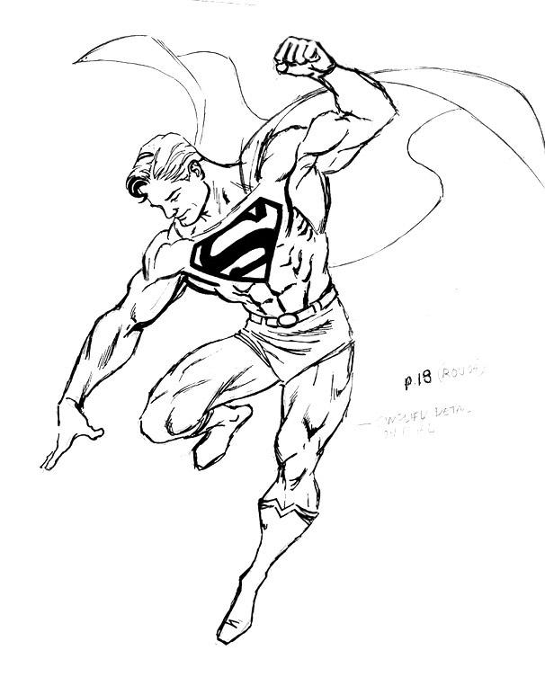 Drawn superman
