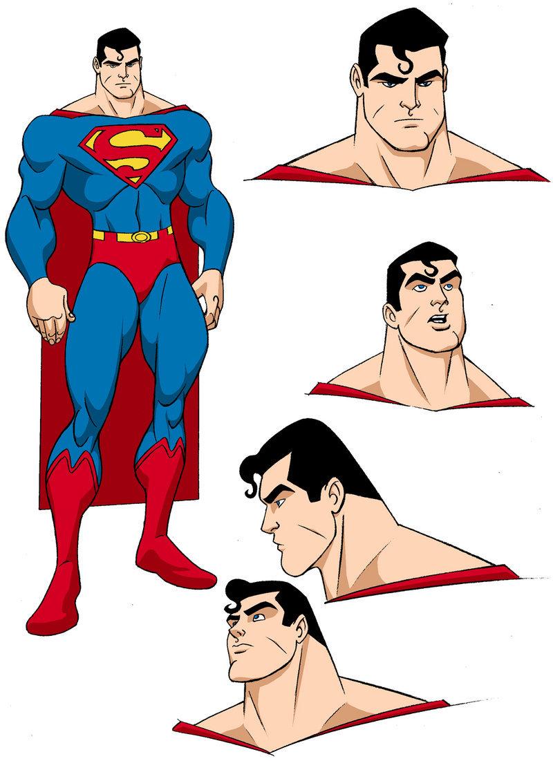 Drawn superman cartoon character By designs MBorkowski Superman on
