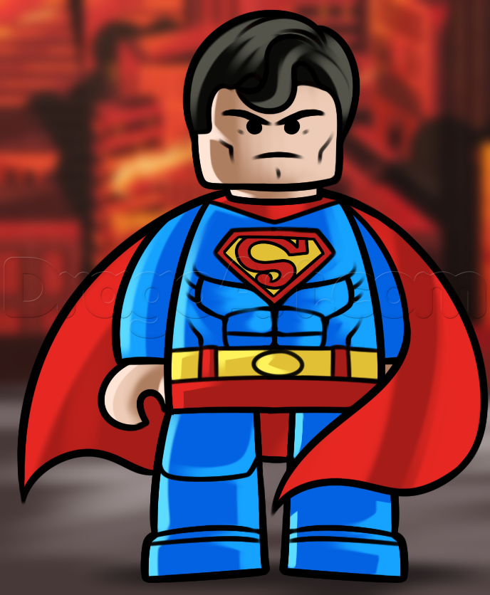 Drawn superman cartoon character Draw Step From the Movies