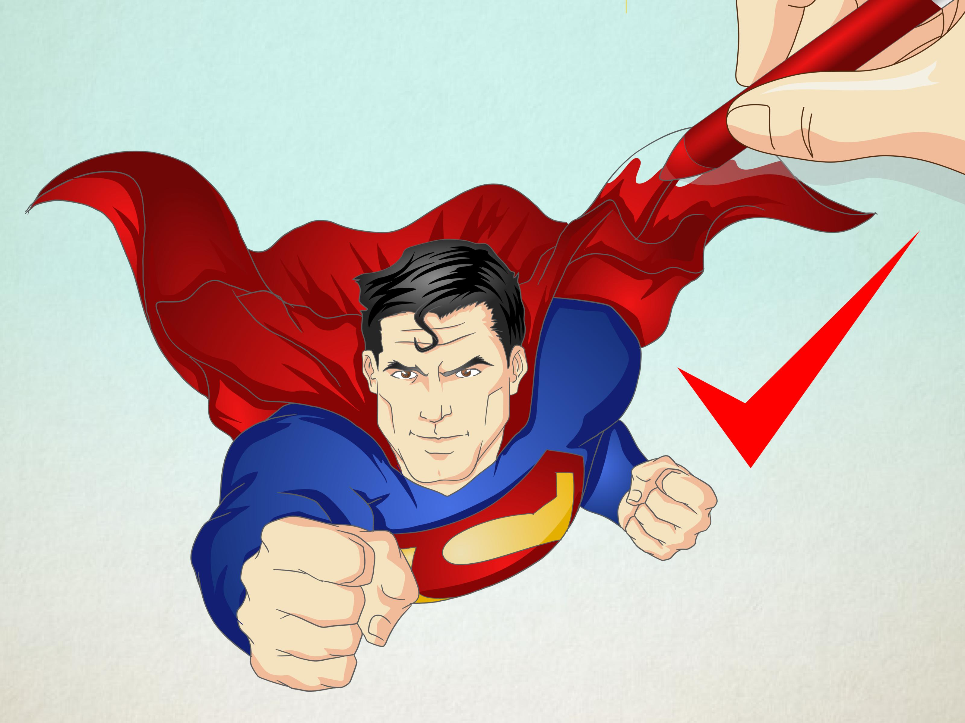 Drawn superman cartoon character To 13 (with  Pictures)