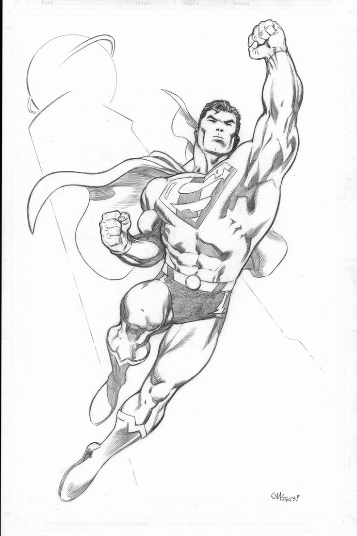 Drawn superman comic art Family Pin Comic more Pinterest