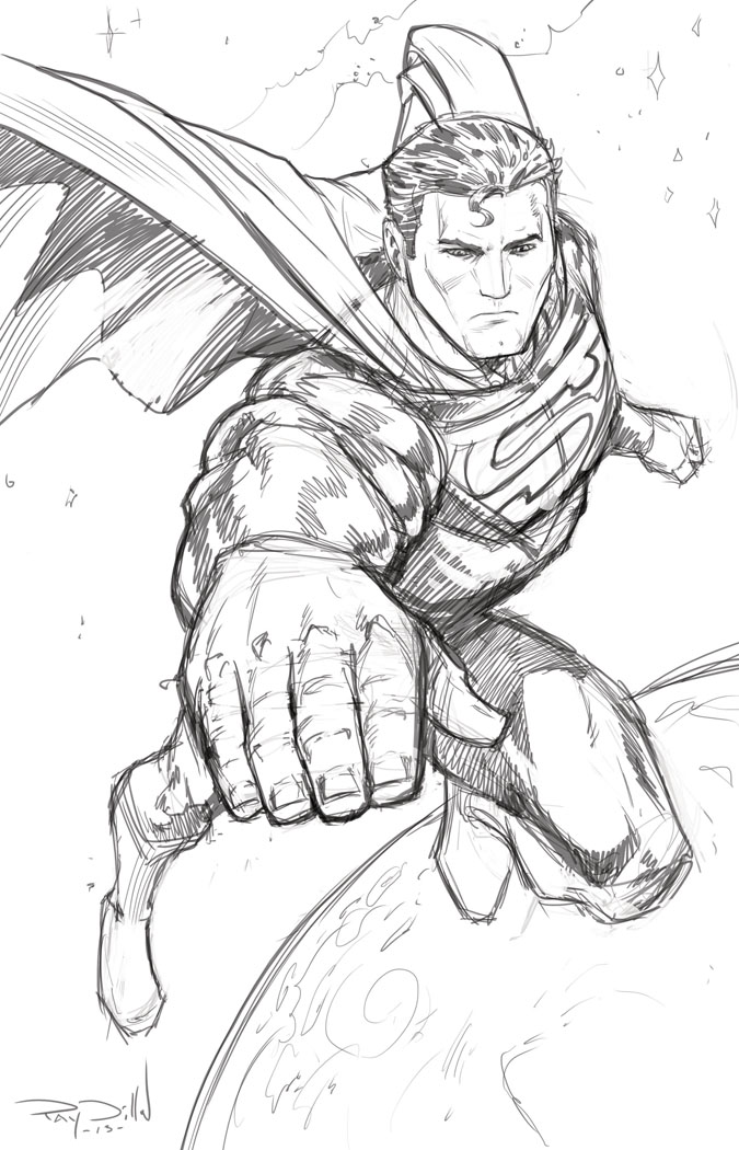 Drawn superman comic art THE MAN STEEL STEEL OF