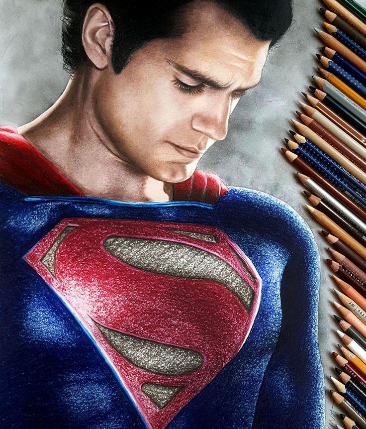 Drawn superman crayon Superman JasminaSusak cavill meilleures Henry