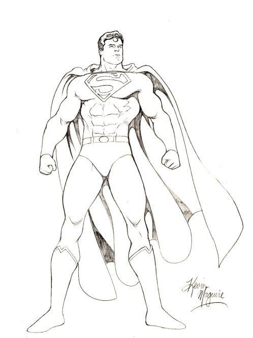 Drawn superman crayon Art Draw Superman Maguire on