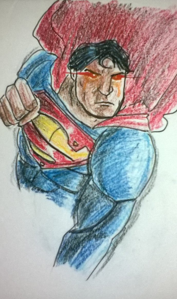 Drawn superman crayon On Superman crayon by BLuLIvE