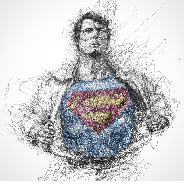 Drawn superman crayon  — WizuS High Art