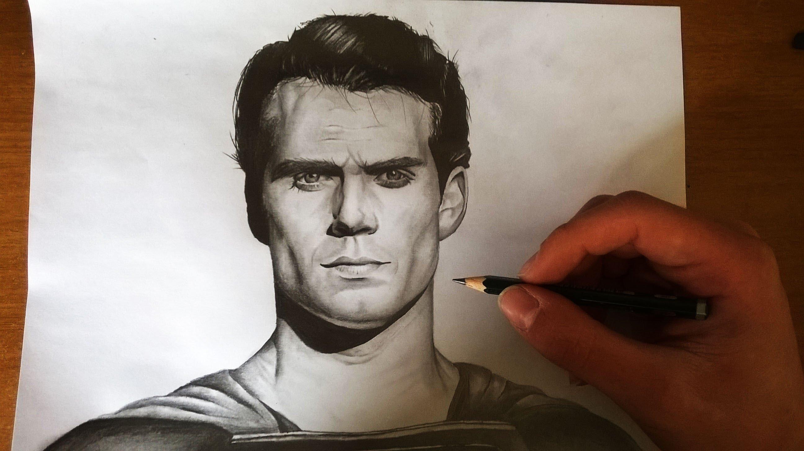 Drawn superman crayon ( ) Speed ) drawing