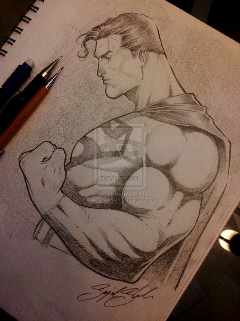 Drawn superman crayon Comission com com Sajad126@deviantart