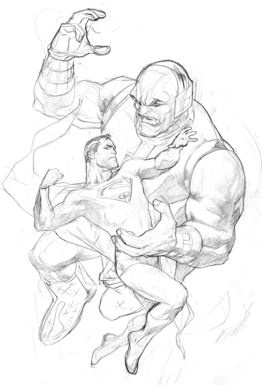 Drawn superman dc universe Universe RyanSook com Mongul Prelim