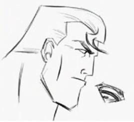 Drawn superman face To How Draw to