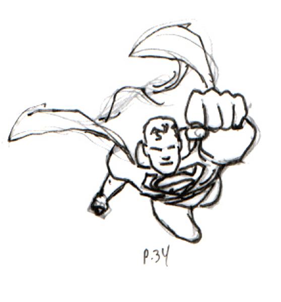 Drawn superman foreshortened Superman Blog 50 Page layout