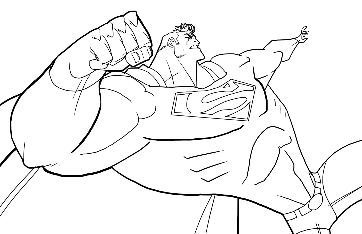 Drawn superman foreshortened Finished! Live: 2011 November theFranchize: