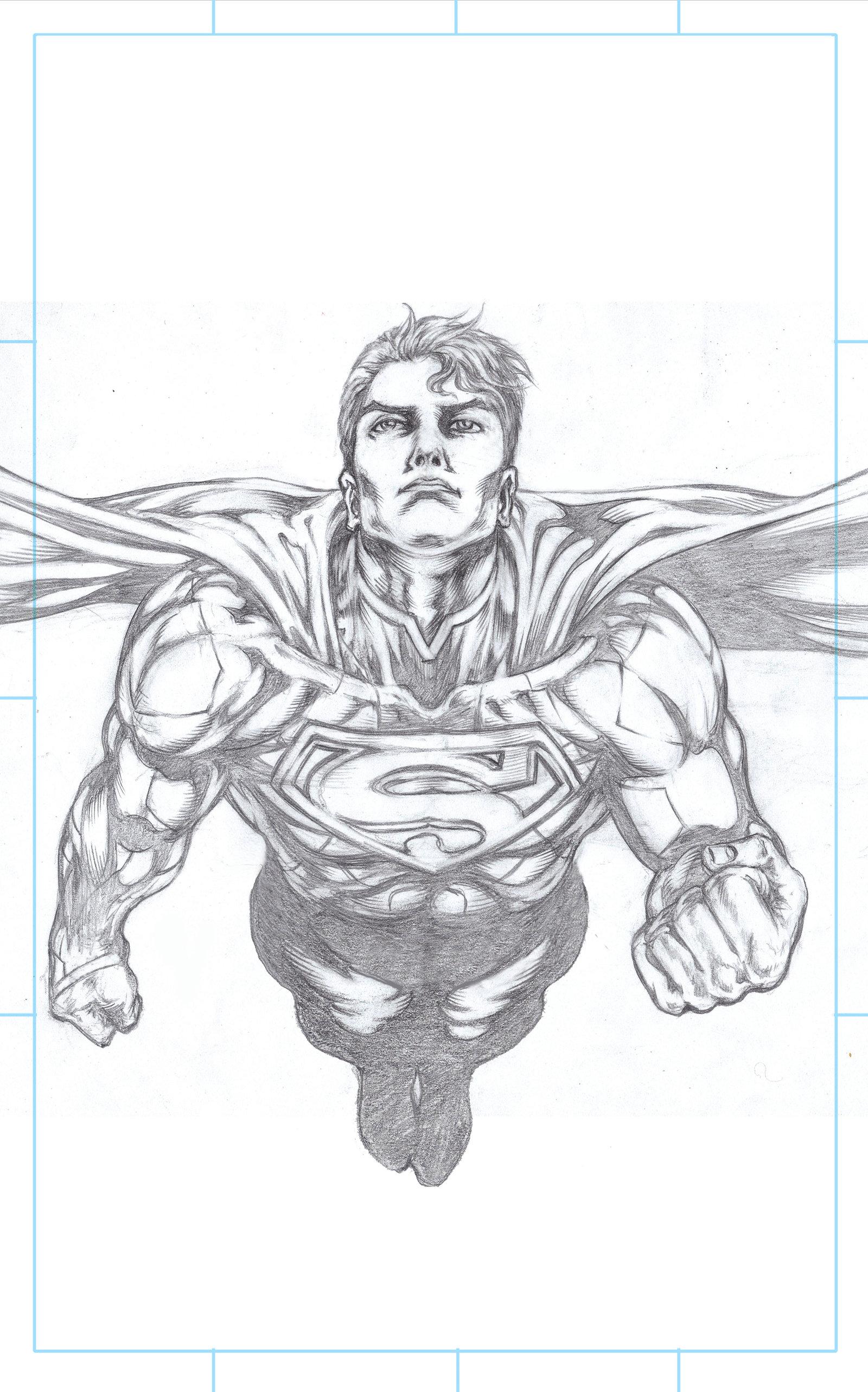 Drawn superman foreshortened SUPERMAN Wolverine sketch DeviantArt Foreshortened
