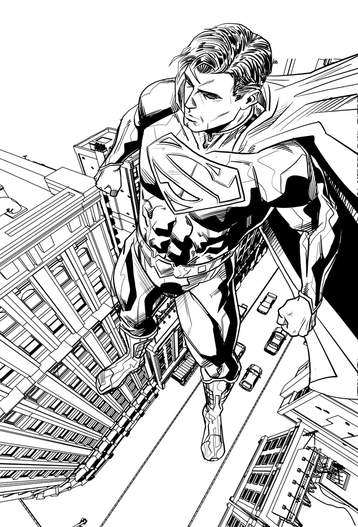 Drawn superman foreshortened I the Superman honest new