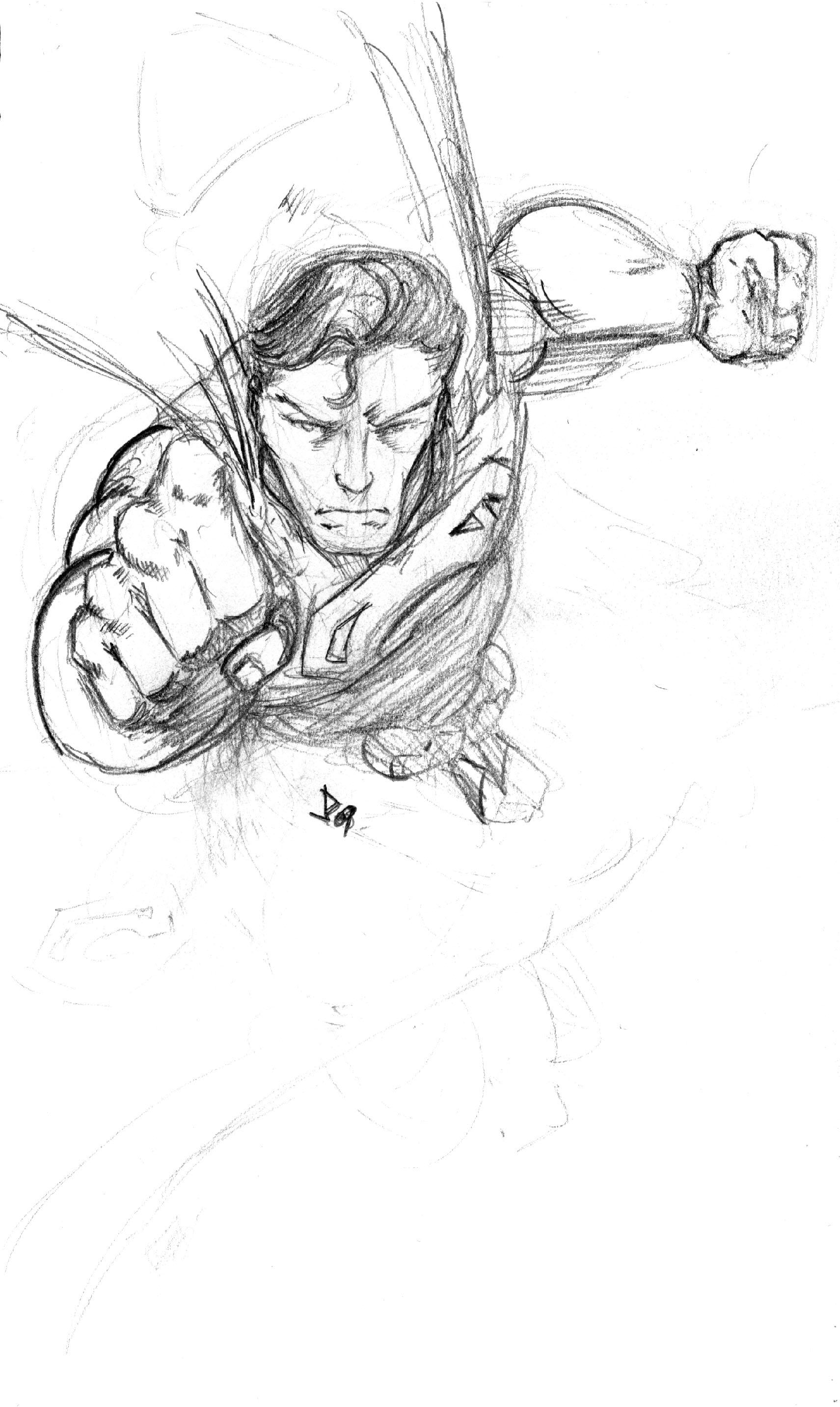 Drawn superman foreshortened Superman DC Superhero Throwdown Universe*