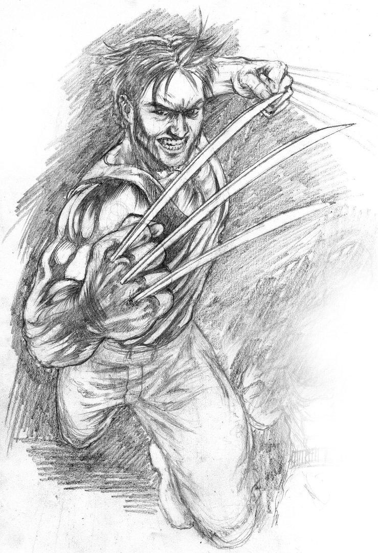 Drawn superman foreshortened Wolverine Foreshortened by sketch DeviantArt
